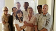 Diverse multiethnic group of business people