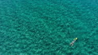 Diving in a beautiful turquoise water