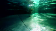 diving in the dark water