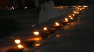Diyas at the Pushkar Lake front