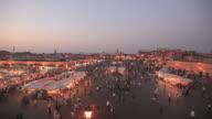 Djemaa el Fna. Marrakech sunset video HD