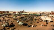 Djemaa el Fna Square in Marrakech Timelapse, Morocco
