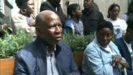 Three men jailed London EXT Tuna Nsaka interview SOT