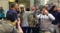 Djuro Sen reports on new iPhone 7 going on sale Sydney City SPEEDED UP TRACKING SHOT ALONG QUEUE OUTSIDE APPLE STORE / PAN QUEUE OUTSIDE APPLE STORE...
