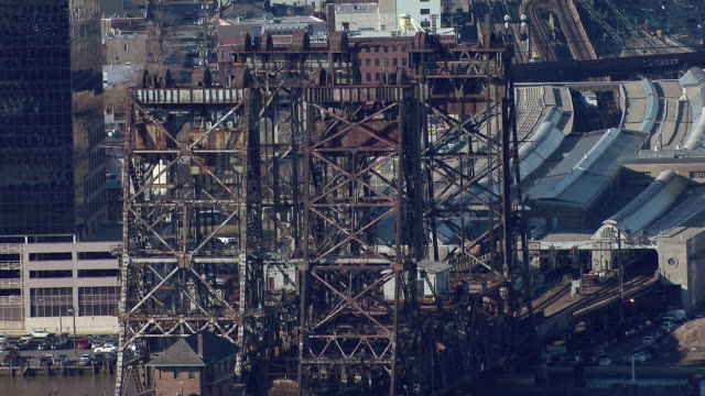 Dock Bridge is a vertical-lift bridge that crosses the Passaic River and connects Harrison and Newark, New Jersey.  The bridge is used only for railroad traffic.