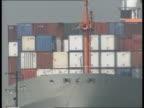 Dockers jobs for life strike ballot **** FOR ENGLAND Southampton Docks CMS Tugboat towing 50000 ton 'Heemskerck'container ship CMS 'Heemskerck' along...