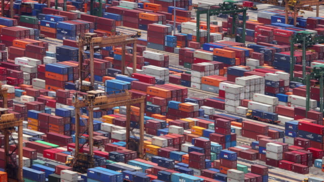 Docks and shipping containers