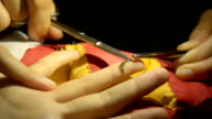 Doctor cutting the stitch