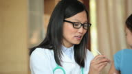 CU PAN Doctor Giving Vaccine Shot to Girl (6-7) / Richmond, Virginia, USA