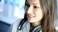 Arzt sprechen im Büro