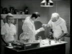 1945 MONTAGE Doctors making medicine