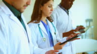 Doctors using Digital Tablet