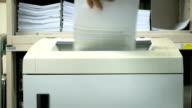 Document shredder in action.