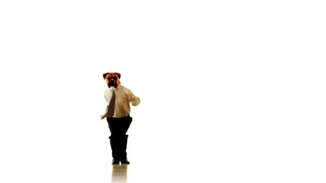 Dog People Jumping Clerk