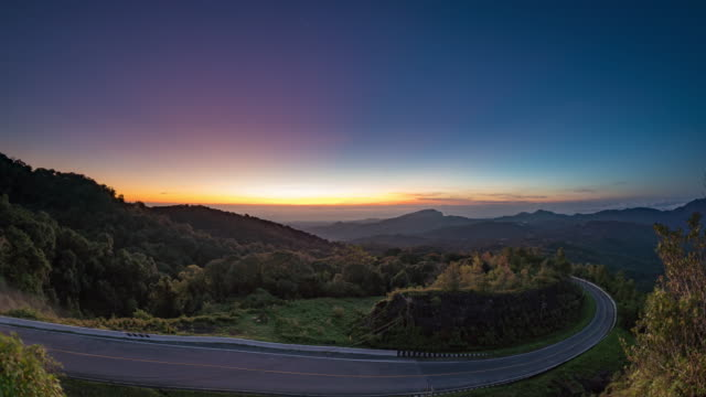 Doi Inthanon at sunrise Time lapse