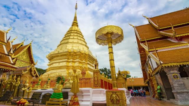 Zeitraffer Doi Suthep-Tempel von Chiang mai Thailand.