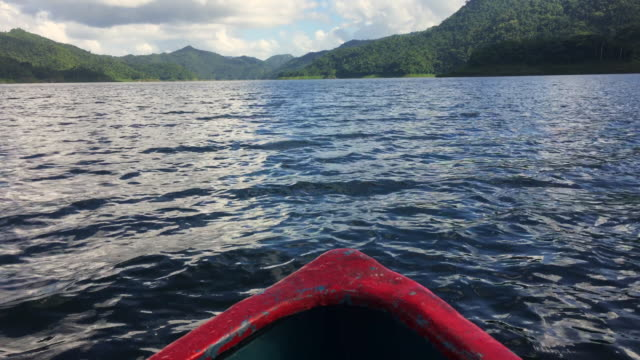 Doing Ecotourism in Hanabanilla Dam or Lake Reserve, Boating Among Mountains in Daytime