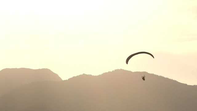 Doing Paragliding in the Catalan Pyrenees mountains.
