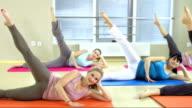 Doing Pilates Side Kicks