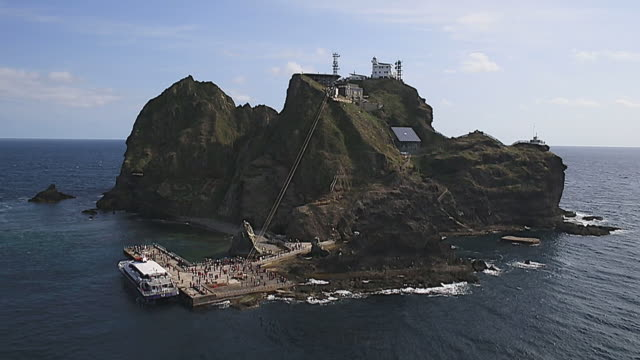 Dokdo island (Natural Monument Heritage and one of most famous island in Korea)