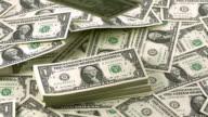 '1 US Dollar Banknotes falling, Slow Motion'