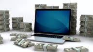 Dollar bills and laptop | Making money online