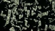4K Dollar Bills Falling | Loopable