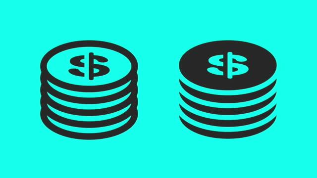 Dollar Coin - Vector Animate