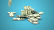 US Dollar Stacks falling with alpha matte