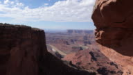 Dolly motion overlooking the Green River from Dead Horse Point near Moab Utah.