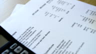 HD - Dolly shot - Financial Documents review