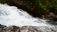 Dolly Shot: Flowing Water at Waterfalls