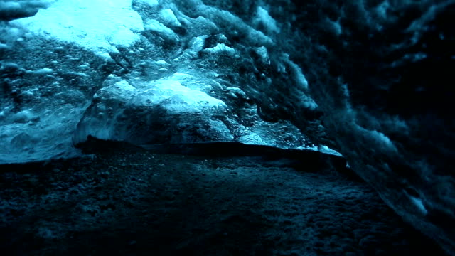 HD dolly shot: Ice Cave at vatnajokull Glacier jokulsaron Iceland