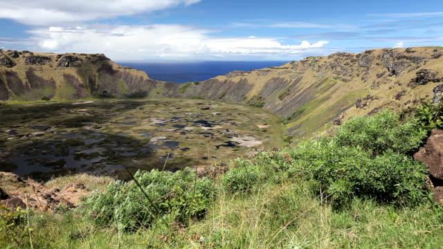 Dolly shot: Rano Kao on Easter Island