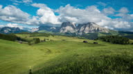 Dolly shot Time Lapse, Moving cloud at Seiser alm, Dolomites