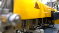 dolly: side view of twin screw extruder