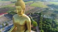 4K Dolly : The biggest golden buddha statue , Thailand