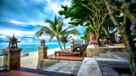 HD dolly Timelapse of Seaside Beach Resort