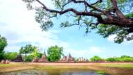 Dolly Time-lapse: Sukhothai historical park Thailand