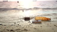 HD DOLLY:garbage that floated up on the beach.