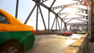 HD Dolly:vehicle traffic on bridge.
