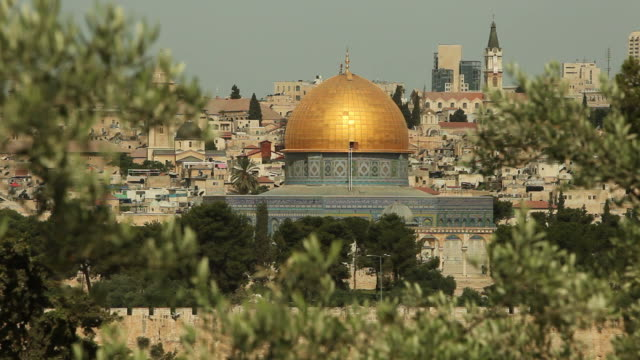 Dome of the Rock Muslim Mosque in Holy City Jerusalem
