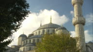 MS ZO Domes of Blue Mosque with golden spires / Istanbul, Turkey
