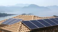 Domestic solar panels, Greece