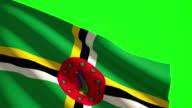 Vlag van Dominica Luma mat