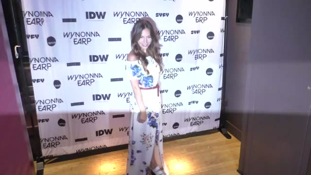 Dominique ProvostChalkley at ComicCon International 2017 'Wynonna Earp' Media Mixer With Cast Fan Appreciation Party on July 20 2017 in San Diego...