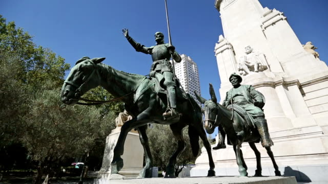 Don Quijote and Cervantes Monument in Madrid