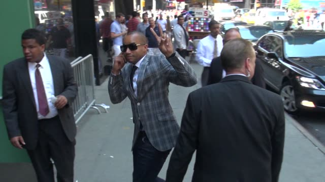 Donald Faison arrives at the 'Good Afternoon America' studio Donald Faison arrives at the 'Good Afternoon Ameri on July 10 2012 in New York New York