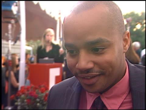Donald Faison at the 2002 People's Choice Awards at Pasadena Civic Auditorium in Pasadena California on January 13 2002