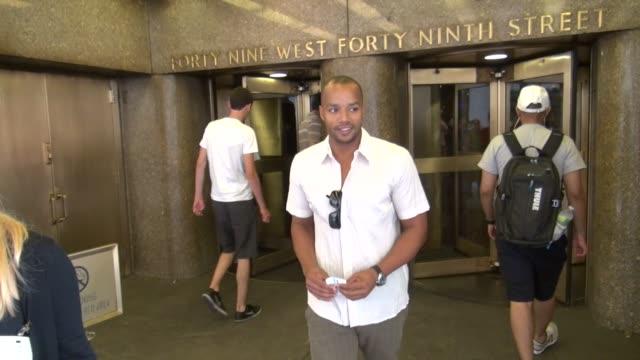 Donald Faison at the NBC studio Donald Faison at the NBC studio on July 09 2012 in New York New York